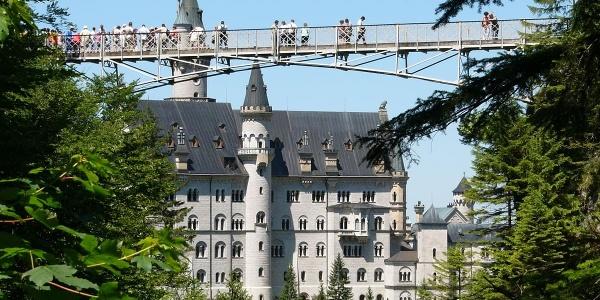 Die Marienbrücke über der Pöllatschlucht bei Schloss Neuschwanstein