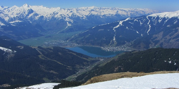 Zeller See, Hohe Tauern mit Kitzsteinhorn