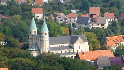 Blick vom Försterblick Gernrode auf die Stiftskirche St. Cyriakus