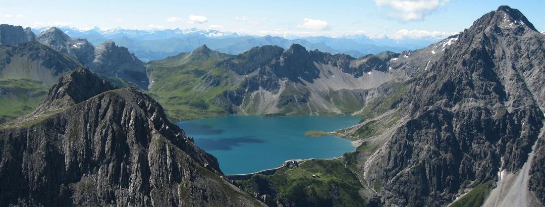 Blick zum Lünersee und in die Schweiz.