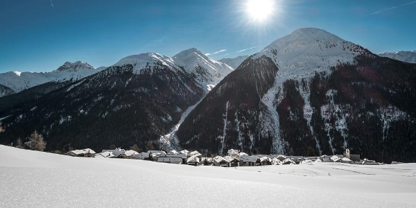 Guarda, das Schellen-Ursli Dorf im Unterengadin.