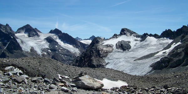 Blick vom Litznersattel in die Gletscherwelt.