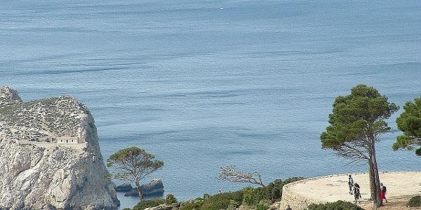 Mirador junto a la costa