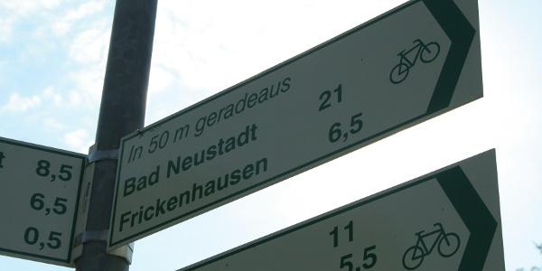 """Grünes Fahrrad auf weißem Grund """"Frickenhausen"""" [Original]"""