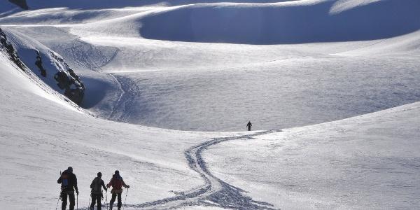 Anstieg zum Silvrettagletscher