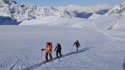 Aufstieg am Silvrettagletscher