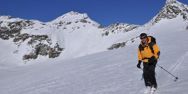 Silvrettagletscher, Abfahrt zur Silvrettahütte