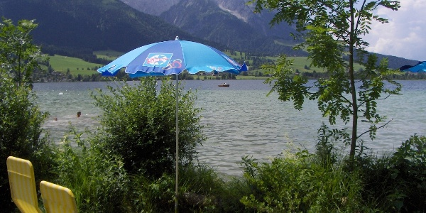 """Das Seebad """"Seewiese"""" liegt am Nordostufer des Walchensees."""