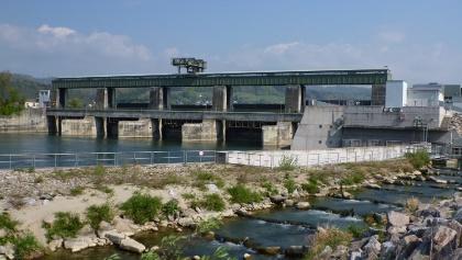 Stauwehr des Rheinkraftwerks Albbruck-Dogern