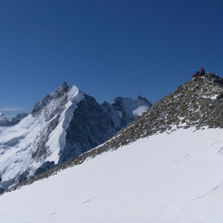 Piz Morteratsch vor Biancograt und Piz Bernina