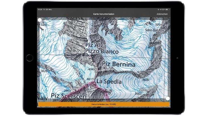 Swisstopo Karte der Bernina Gruppe im Maßstab 1:25:000 herunterladen