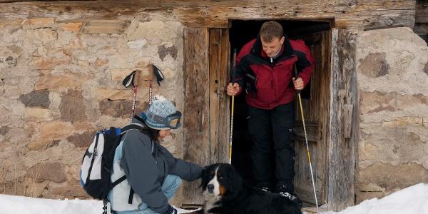 Typische Berghütte