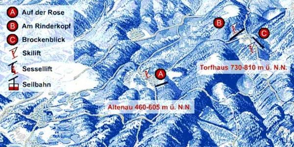 Pistenplan Altenau