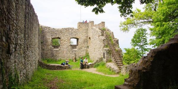 Die Mauern der Burgruine