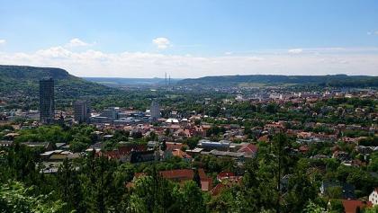 Schleifenroute Blick auf Jena-City vom Landgrafen