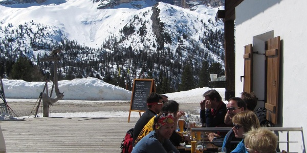 Auf der Terrasse des Berggasthofs Plätzwiese