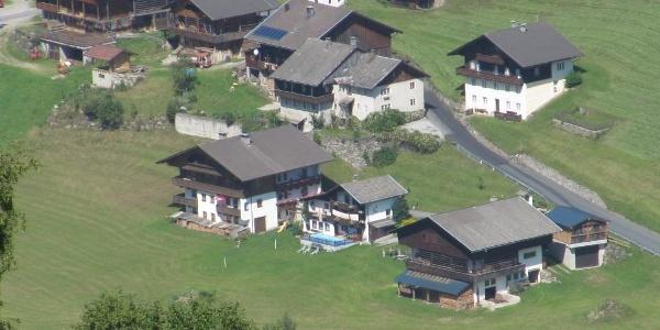 Der Michahof von oben, seit 30 Jahren unser Ferienhaus