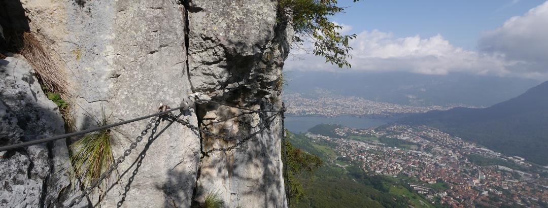 Sicherung am Klettersteig