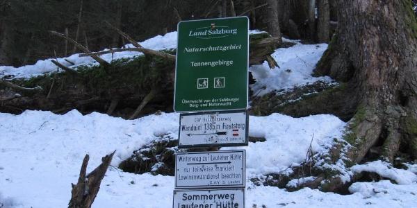 Abzweigung Sommer - Winterweg