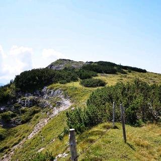 Der Fellhorngipfel in Sichtweite