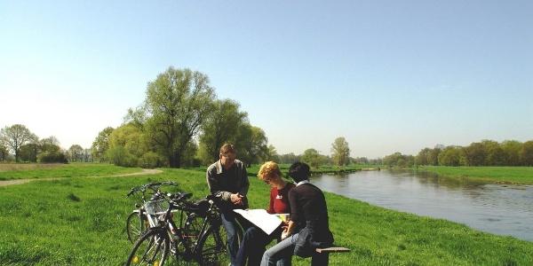 Radler bei Eilenburg