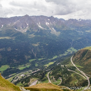 The view from Passo Scrimfuss over the Tremola
