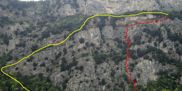 rot: Route -  gelb: Abstiegsweg