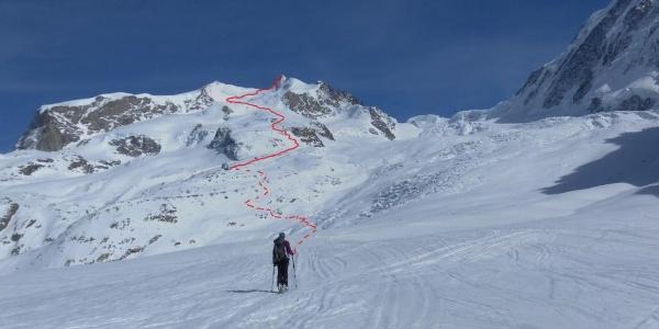 Route vom Grenzgletscher eingesehen