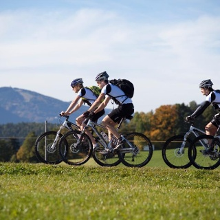 Mountainbiken im Tal