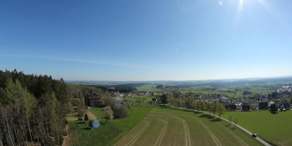 Blick nach Osten vom Vogteiturm in Loßburg
