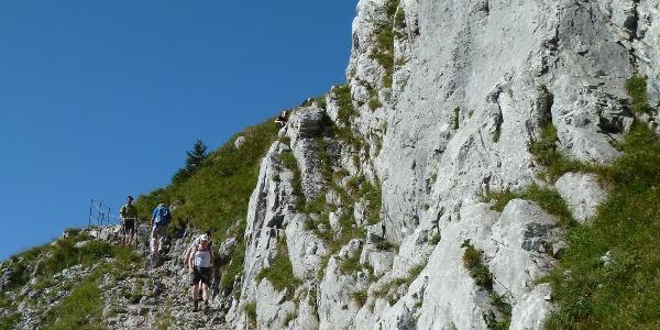 Der gut ausgebaute Weg windet sich in vielen kehren bis zum Gipfel.