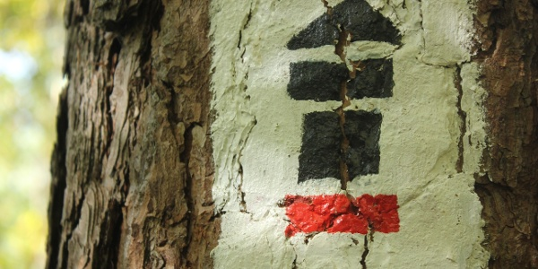 Limes-Fernwanderweg Markierungszeichen