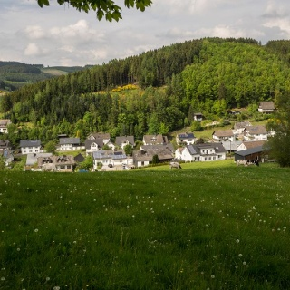 Blick auf Lenne im Hochsauerland