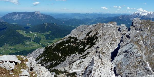 Blick Auf Untersberg, Vordergrund Steinberg und Schärtenspitze