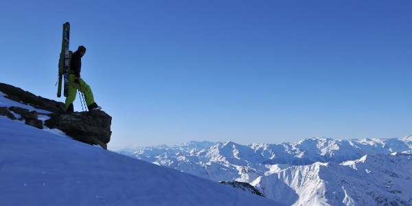 Similaun: Blick Richtung Südtirol