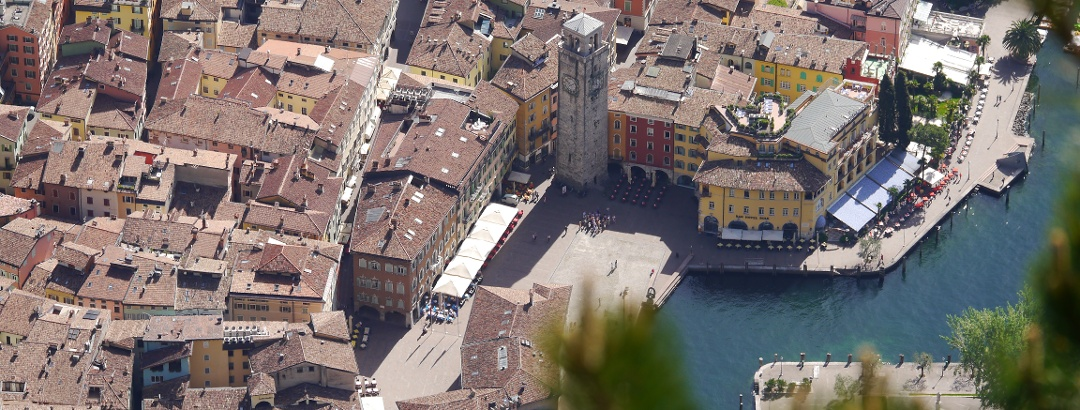 Riva del Garda von oben