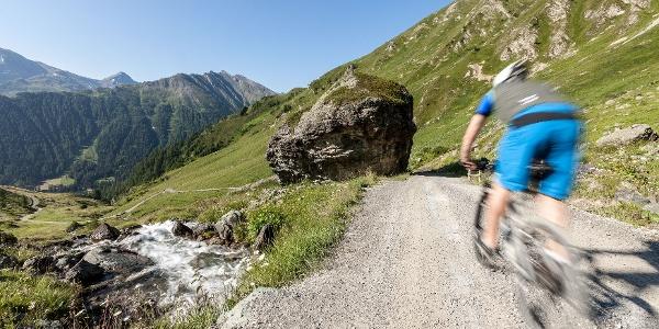 Mountainbiken in Samnaun