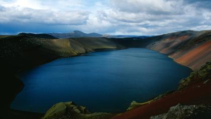 Ljötipollur-Krater im südlichen Hochland