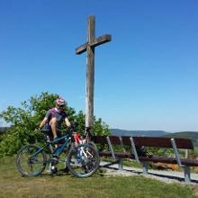Mit Gipfelkreuz