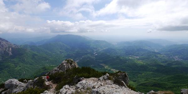 Blick vom Gipfel des Monte Cornetto