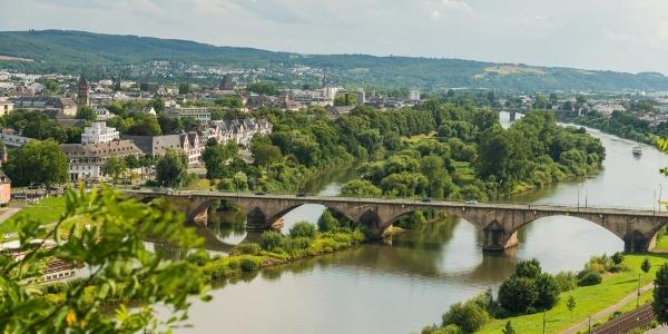 Blick auf das Moseltal bei Trier