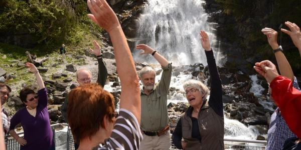 Mühlendorf - Plattform Wasserfall