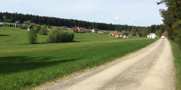Blick auf Seewald-Eisenbach