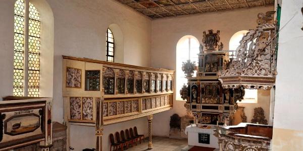 Löbnitz, Kirche, Innenansicht