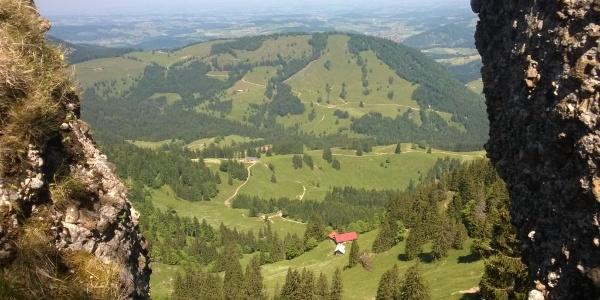 Blick vom Falken in Richtung Lindenberg