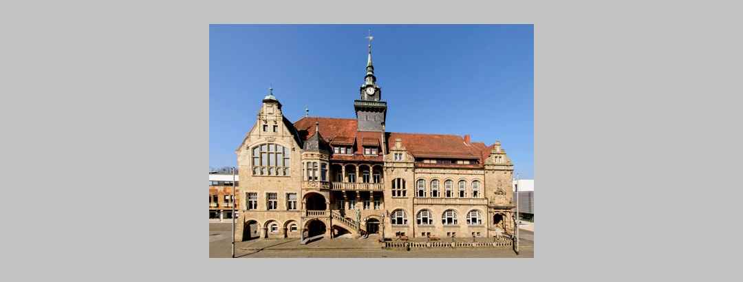 Marktplatz Bückeburg mit Rathaus