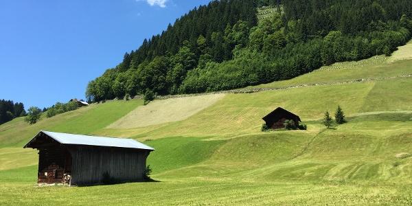 Start der Tour in Mittelberg Bödmen