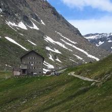 Der erste Blick zur Hütte