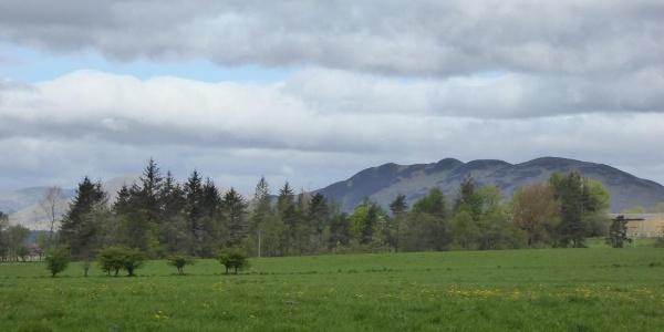 Blick kurz nach Drymen auf den Conic Hill
