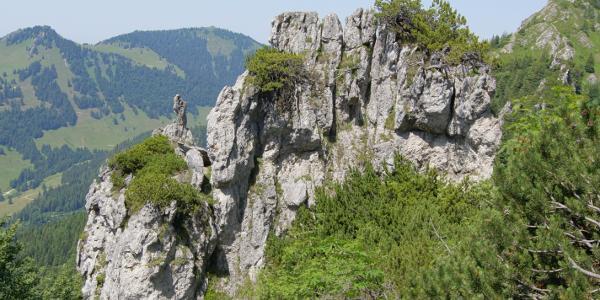 Imposante Felsformationen am Brandelberg